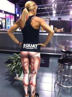 Muscle Leggings by Black Milk Clothing. So crazy, yet I think they are awesome. Fun for a marathon/race.
