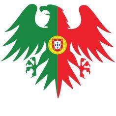 Portuguese flag heraldic eagle