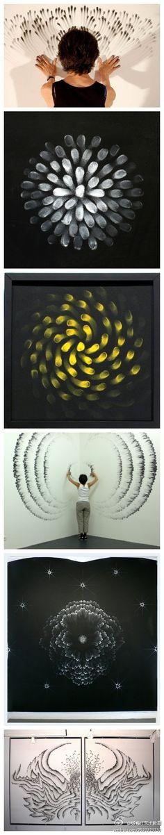 Original fingers painting by the New York artist, Judith Braun.