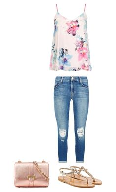 """Women's Casual Spring Outfit"" by sayhitotati ❤ liked on Polyvore featuring Dorothy Perkins, J Brand, K. Jacques and Aspinal of London"