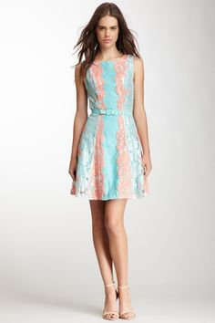 Love the colors and lace Candace Dress by Eva Franco on @HauteLook