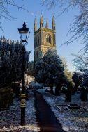 Cold frosty churchyard