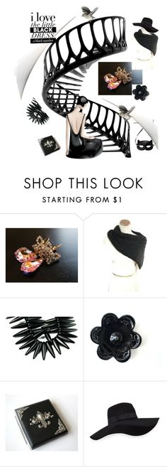 """""""Little Black Dress"""" by tol-n-tique ❤ liked on Polyvore featuring H&M and San Diego Hat Co."""