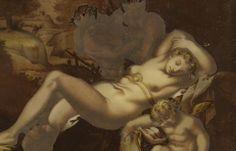 Venere dormiente con Amorino e fauni