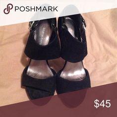 Brandy Open Toe Heels Black Suede Open Toe Suede Shoes Never Worn 4 Platform. Kristin Davis, Suede Shoes, Platforms, Black Suede, Character Shoes, Open Toe, Dance Shoes, Best Deals, Heels