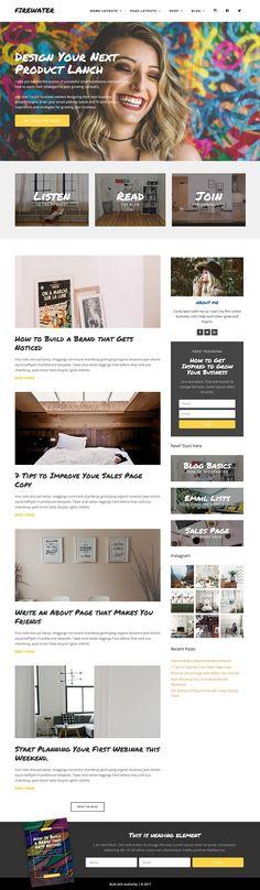 Responsive Wordpress Theme - Fire by Authority on @creativemarket