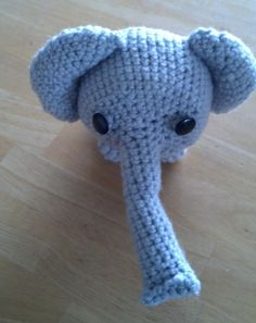 adorable stuffed elephant - get yours at https://www.etsy.com/listing/204429399/crocheted-stuffed-elephant?ref=shop_home_active_6