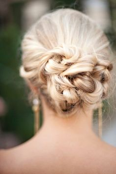 """Perfect """"knotted"""" up do     (Photo by: Christina Watkins Photography)"""