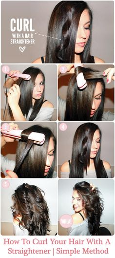 Do you want to know how to curl your hair with a straightener?  This is very simple. All that you need to know the proper use of styling tools and techniques that suits well with your hair. Read on the article below, here you will get clear directions on how to curl you hair with a straightener.