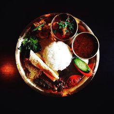 Today's Lunch Nepal Tokyo  新宿 百人町  師走 新店  ナングロ Nanglo  ネパール カトマンズ盆地 ネワール族  民族料理 家庭料理  からくて まあるい  愛ある 味わい by hiroeins