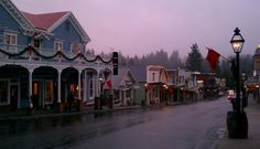 Downtown Nevada City on a quiet November evening. Photo by Magdalena Halford, Realtor in Nevada City