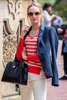 tendencias moda verano 2013 rayas estilo marinero - Candice Swanepoel