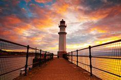 New Haven lighthouse, Edinburgh, Scotland by Stewart
