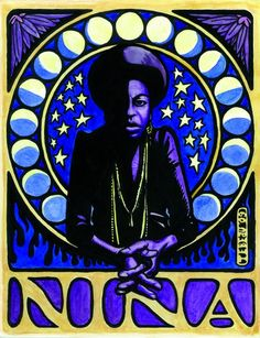 """""""Nina Simone,"""" watercolor and ink on paper. Hanging Posters, Hanging Wall Art, Jazz Poster, Nina Simone, Political Art, Concert Posters, Music Posters, Beautiful Posters, Art Classroom"""