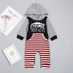 Unisex Baby Striped One Piece Jumpsuit - anmino Baby Outfits Newborn, Baby Boy Outfits, Kids Outfits, Baby Boy Jumpsuit, Striped One Piece, Jumpsuits For Girls, Matching Family Outfits, Long Sleeve Romper, Baby Prints
