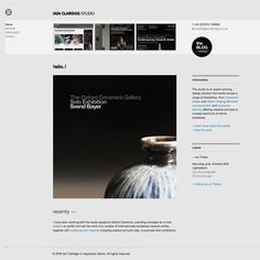 Iain Claridge Studio website #grafica #web