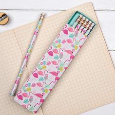 Set de 6 lápices flamenco: Tape Pink