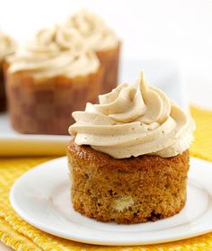 Jam Filled Banana Cupcakes with Peanut Butter Frosting