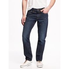 Old Navy Slim Fit Jeans For Men ($30) ❤ liked on Polyvore featuring men's fashion, men's clothing, men's jeans, blue, mens slim fit jeans, mens slim jeans, mens flap pocket jeans, mens blue jeans and mens slim cut jeans