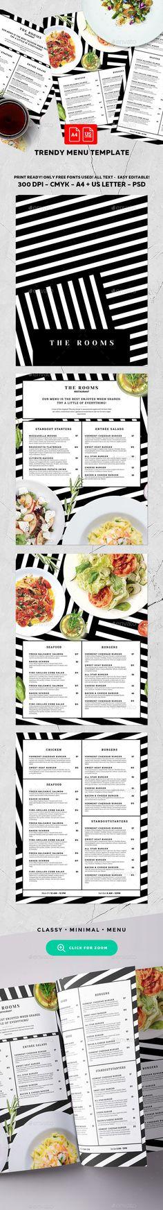 Menu Template Menu templates, Psd templates and Menu - a la carte menu template