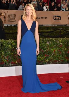 Claire Danes in a Stella McCartney dress and Tiffany & Co. jewelry.