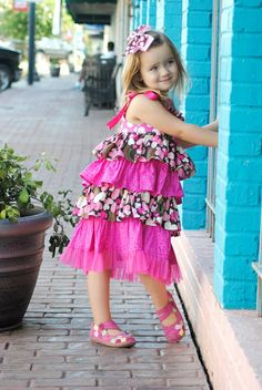 Sewing Patterns for Girls Dresses and Skirts: Bella Ruffled Dress Sewing Pattern for Girls, 6 months to 10 years