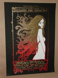 Tool + Nine Inch Nails rare silkscreen concert poster print Malleus 2007 NIN