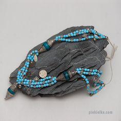 Multi strand ethnic necklace in Yemeni by PiekielkoEtnoJewelry