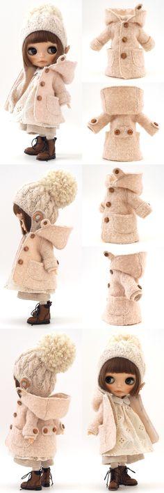 ふわっとしたベビーピンクのコートのセットまもなくオークション終了です是非こちらから覗きにいらしてくださいね♪