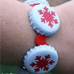 cute take on bottle cap bracelet
