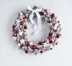 Wianek Red&white w Botanika na DaWanda.com