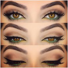 Absolutely love this eye makeup. Beautiful.