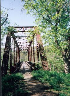 The Chessie Nature Trail follows markers left behind by the Chesapeake & Ohio Railroad that ran this route.