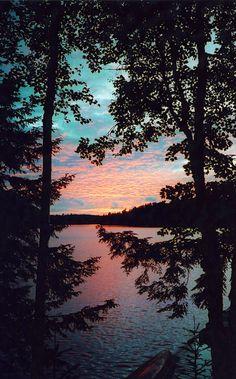 Lake sunset in rural Ontario, Canada • photo: Warren Haas on Flickr
