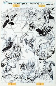1992 - Jim Lee X-Men Trading Cards Series I - Danger Room...