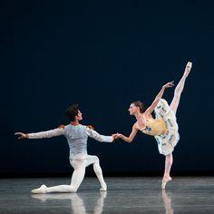 "Miami City Ballet's Renan Cerdeiro and Ashley Knox in George Balanchine's ""Divertimento No. 15"". Photo © Alexander Iziliaev"