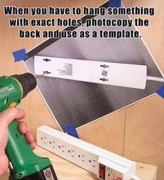 Hang items with back holes easily!  Photocopy!