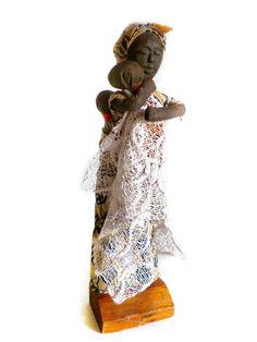 Vintage Ethnic African Handmade Folk Doll Smithsonian Museum of African Art | eBay