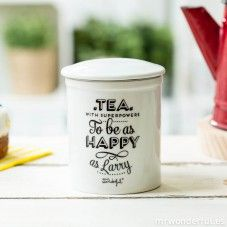 """Caneca de chá """"Superpowers to be as happy as Larry"""" (ENG)"""