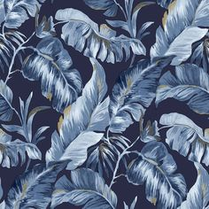 Tapeta CRISTIANA MASI AMAZZONIA 22013, kolorystyka niebieska Thing 1, Leroy Merlin, Plant Leaves, Plants, Products, Christians, Plant, Gadget, Planets