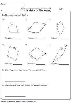 Perimeter Of A Rhombus Integers Level 2 Chambre Fille
