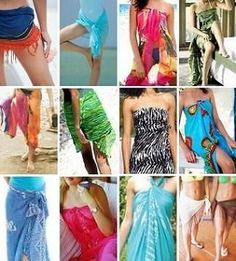How to tie a sarong - well it IS nearly holiday time! :)