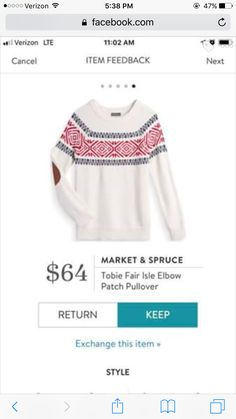 I like this sweater alot but It would need to have a different background color white will just get stained.