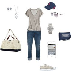 """Running (literally) to class casual (or """"spending all day in the psych lab casual"""") Summer Outfits, Casual Outfits, Cute Outfits, Cali Style, My Style, College Fashion, College Style, Football Outfits, Spring Vacation"""