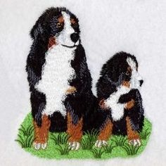Bernese Mountain Dog 2 05(Lg) machine embroidery designs