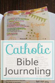 The new BIble I am using for Catholic Journaling Bible
