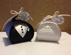 Bride and Groom Favor Boxes by Laurie Clayton