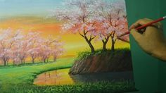 Learn how to paint sunset painting with trees of cherry blossoms. It's a step by step tutorial using acrylic. Good luck and have fun painting. Please hit lik...