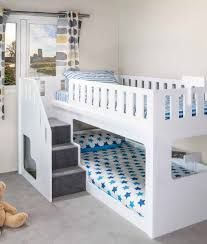 8 Cheap Things to Maximize a Small Bedroom . Home Design, Bunk Beds With Stairs, Bunk Bed Designs, Loft Spaces, Kid Beds, Kids Bedroom, Designer, Living Room Decor, Bedroom Decor