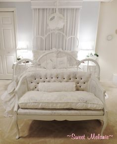 ~Sweet Melanie~: My British Rose Settee revamped to look and feel new.